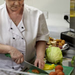 Well equipped kitchen provides fresh meals daily