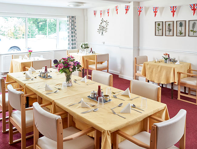 Dining Room - Meadowfields - Northgate Healthcare